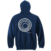 ADULT Pullover Hooded Sweatshirt with CirclePlus_White