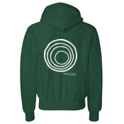 ADULT Champion Reverse Weave Hooded Sweatshirt with CirclePlus_White