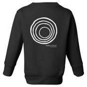 YOUTH Fleece Sweatshirt with CirclePlus_White