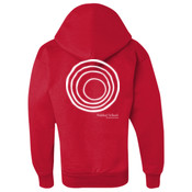 YOUTH Champion Double Dry Eco Hooded Sweatshirt with CirclePlus_White