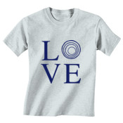 YOUTH Vintage Fine Jersey Tee with LOVE_Navy