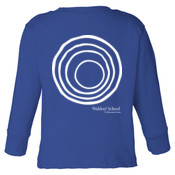 TODDLER Long Sleeve Cotton Jersey Tee with Circle Plus/White